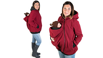 Maternity Kangaroo Baby Holder Winter Hoodie