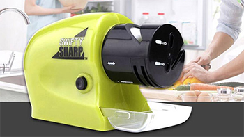 The Swifty Sharp Motorized Cordless Knife Sharpener