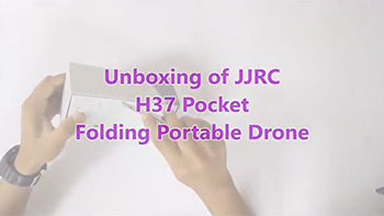 Unboxing of JJRC H37 ELFIE Pocket Portable Drone with HD Camera