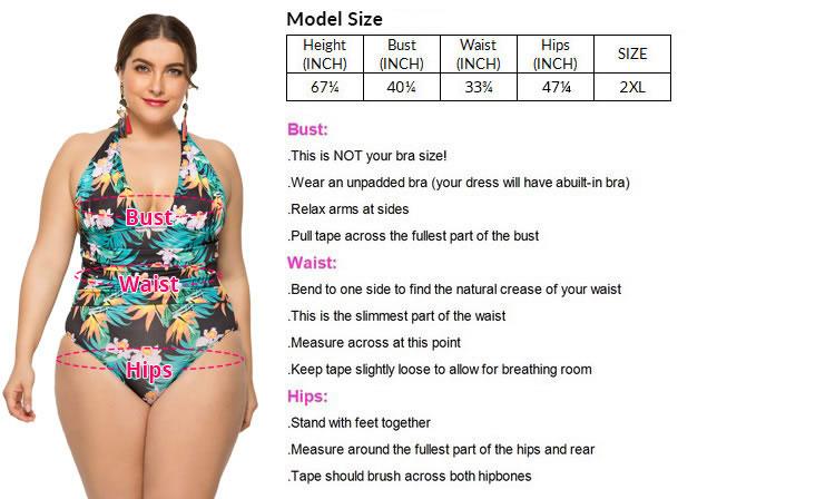 437e0e1af07 Plus Size deep V-neckline One Piece Swimsuit - Plus Size Lingerie